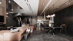 DUPLEXAPARTMENT on Behance Duplex Apartment, Bed Back, Interactive Design, Graphic Design Illustration, Minimalist Design, Modern Interior, Behance, Architecture, Table
