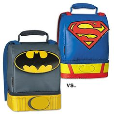 Batman vs. Superman Insulated Lunch Box Set @ niftywarehouse.com #NiftyWarehouse #Nerd #Geek #Entertainment #TV #Products