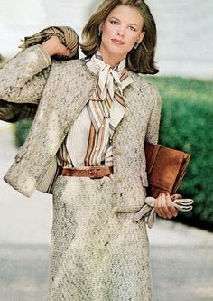 Vogue 1975; Lisa Taylor in a Chanel suit