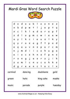 Mardi Gras word search puzzle (this same page has a mask counting printable game. Mardi Gras word search puzzle (this same page has a mask counting printable game. Mardi Gras word search puzzle (this same page has a mask counting . Mardi Gras Carnival, Mardi Gras Party, Diwali Story, Mardi Gras Activities, Art Activities, February Holidays, March, February Calendar, Carnival Games For Kids