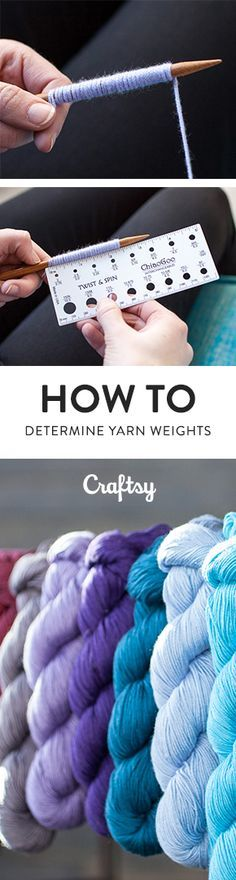 If you have a stash of mystery yarns that you've gathered over the years, here's the best way to determine their weights for future projects. @craftsy