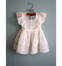 Yes, we wore these...awwww Vintage toddler dress.