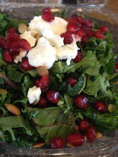 Kale, Pomegranate & Goat Cheese Salad