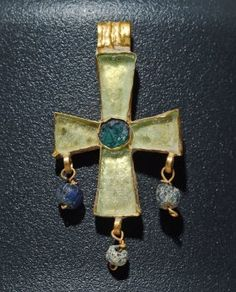 Byzantine Gold / Ancient Glass Cross Pendant Reliquary / Religious Icons More Pins Like This At : FOSTERGINGER @ Pinterest
