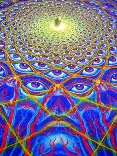 """What you seek is seeking you."" Mawlānā Jalālad-Dīn Rumi Art by Alex Grey Alex Grey, Alex Gray Art, Acid Art, Psy Art, Amazing Paintings, Visionary Art, Psychedelic Art, Sacred Geometry, Geometry Art"