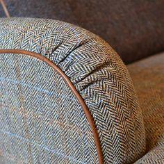 Tetrad Harris Tweed for John Lewis Lewis Petite Sofa, Bracken/Tan Tartan, Plaid, Art Deco Furniture, Furniture Redo, Furniture Upholstery, Upholstered Chairs, Buy Furniture Online, Country Furniture, 2 Seater Sofa