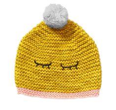 Bonheur Du Jour Hema Pompon Hat In Yellow   Scandi Mini Tricot Enfant,  Bonheur, 939a233682b