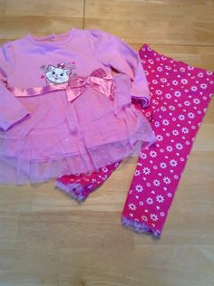Disney Aristocats Marie 2 Piece Outfit Baby Girl