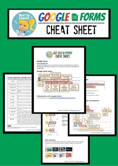 Google Forms Cheat Sheet for Teachers and Students #google #gafe