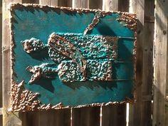 Schilderij acryl met pretex.
