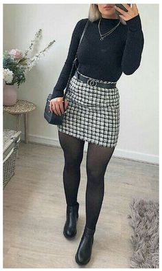 Winter Outfits For Teen Girls, Stylish Winter Outfits, Winter Fashion Outfits, Cute Casual Outfits, Look Fashion, White Outfits, Edgy Outfits, Formal Winter Outfits, Dressy Fall Outfits