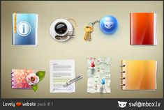 Lovely website icons pack 1 by LazyCrazy