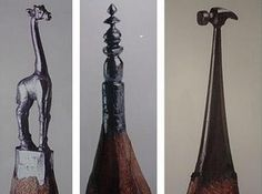 Dalton Ghetti is a 49-year old carpenter from Bridgeport, Connecticut, and he has been carving the most incredible miniature sculptures for over 25 years without the aid of a magnifying glass. His canvas? The tiny tip of a lead pencil.