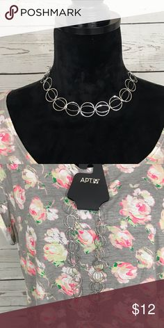 "a0b907e28 Apt. 9 Necklace NWT Apt.9 necklace. Falls 9"" and each circle is 3 4"". Apt. 9  Jewelry Necklaces"