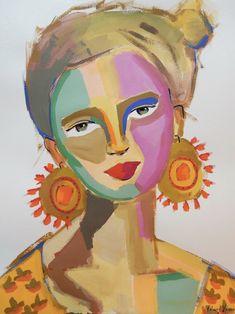 Sneak peek into the process, studio and work of NC artist Kelsey Howard. Art Sketches, Art Drawings, Frida Art, Illustration Art, Illustrations, Arte Pop, Abstract Wall Art, Portrait Art, Oil Painting On Canvas