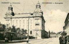 Obchodná a priemyselná komora, postavená roku 1903-1904 Bratislava, Old Street, Louvre, Building, Squares, Travel, Viajes, Bobs, Buildings