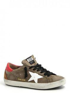Golden Goose-sneakers super star olive nabuk-Golden Goose shoes shop online