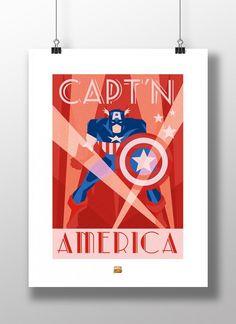 Captain America Minimaliste 2