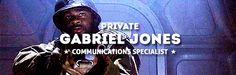 Private Gabriel Jones, communications specialist