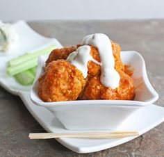 Buffalo Chicken Balls. Replace cream cheese with sour cream and blue cheese with parmesan. Add onion powder and soy sauce.
