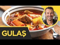 Gulas in stil unguresc Penny Market, Pot Roast, Chili, Food And Drink, Soup, Marketing, Ethnic Recipes, Youtube, Carne Asada