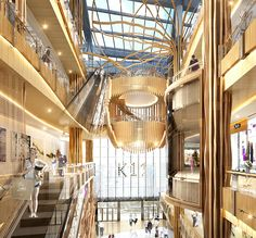 K11 Art Mall | Revolutionizing Retail Perspective | Guangzhou K11 Mall Design, Retail Design, Shoping Mall, Shopping Mall Interior, Atrium Design, Commercial Center, 3d Architecture, Common Area, Shopping Center