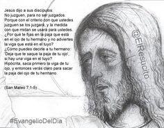 "#EvangelioDelDia ... ""No juzguen, para no ser juzgados"""