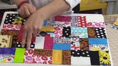 She Makes A Scrappy Quilt, An All Time Favorite, And It's A Great Beginner Project! | DIY Joy Projects and Crafts Ideas