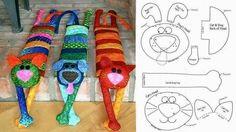 ARTESANATO COM QUIANE - Paps,Moldes,E.V.A,Feltro,Costuras,Fofuchas 3D: molde gatinho inedito e multi função