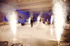 Pyrotechnic Dance floor-WedLuxe – An Exquisite Affair With A Monochromatic Design Palette Dance Floor Wedding, Wedding Stage, Wedding Night, Wedding Bride, Wedding Gifts, Wedding Photos, Wedding Reception Ideas, Wedding Planning, Luxury Wedding Venues