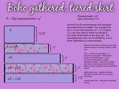 boho gypsy gathered tier skirt pattern tutorial by Rachael Koger