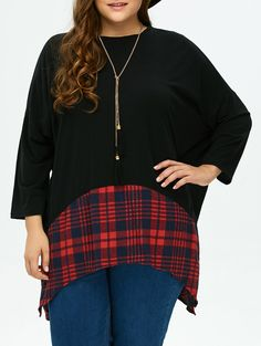 SHARE & Get it FREE | Plaid Asymmetric Plus Size BlouseFor Fashion Lovers only:80,000+ Items • New Arrivals Daily • Affordable Casual to Chic for Every Occasion Join Sammydress: Get YOUR $50 NOW!