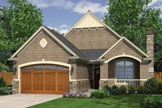 Craftsman Style House Plan - 3 Beds 2 Baths 1275 Sq/Ft Plan #48-586 Exterior - Front Elevation - Houseplans.com