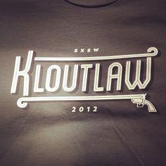 Limited edition @Klout SXSW Shirts! -- via @shinranshoni