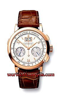 A. LANGE AND SOHNE - DATOGRAPH - 403.032 (18 K ROSE GOLD / SILVER DIAL / LEATHER - BROWN CROCODILE)