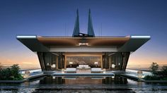 Bi-Directional 'Symmetry' Luxury Yacht Concept