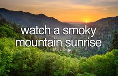 Watch a Smoky Mountain Sunrise