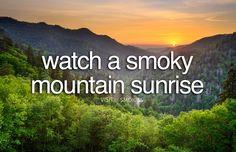 Watch a Smoky Mountain Sunrise