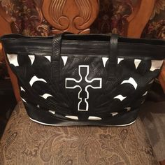 Large leather tote New Large soft leather tote.  Side pocket for credit cards and identification. Gabriels Bags Totes