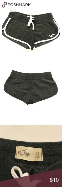 Hollister lounge shorts in dark gray (xs) Xs hollister lounge shorts in dark gray with white trim Hollister Shorts