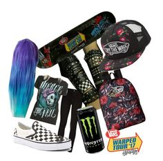 """""""warped get up"""" by frerardfreak ❤ liked on Polyvore featuring Paige Denim and Vans"""