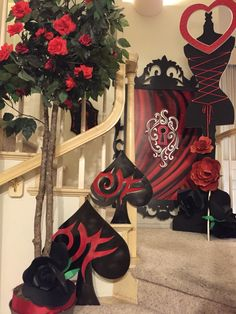 "My own props: red queen ""unbirthday "" entrance"