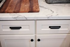 White marble countertops…… they are beautiful! They are sleek, clean, classic and so expensive! But let me tell you they are not the only way to go if you are wanting that bright white …