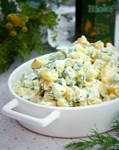Feta, Potato Salad, Food And Drink, Dairy, Potatoes, Healthy Recipes, Cheese, Cooking, Ethnic Recipes