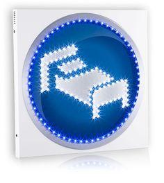Insegna Monofacciale a LED per Hotel. Formato cm 60*60.