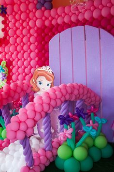 Beautiful Creations And Events 's Birthday / Sofia the First - Photo Gallery at Catch My Party Sofia The First Birthday Party, Pink And Gold Birthday Party, Frozen Birthday Party, Princess Party Decorations, 1st Birthday Decorations, Balloon Decorations, Balloon Ideas, Princess Sofia Party, Disney Balloons