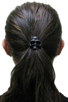 Skull Hair Tie Black
