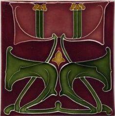 Porteous V29 Art Nouveau Tile