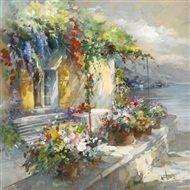 Willem  Haenraets - Veranda at sea