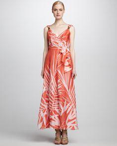 T4XA8 Milly Samantha Sleeveless Maxi Dress